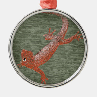 Fire Gecko Design Christmas Ornament