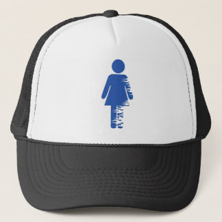 fire girl trucker hat