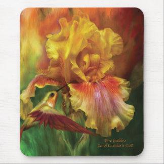 Fire Goddess Iris Mousepad