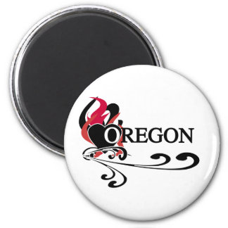Fire Heart Oregon Magnet