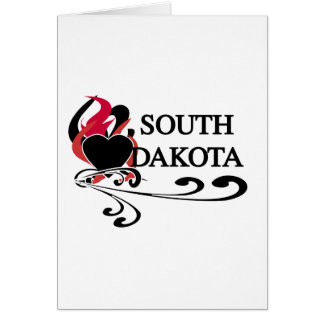 Fire Heart South Dakota Greeting Card