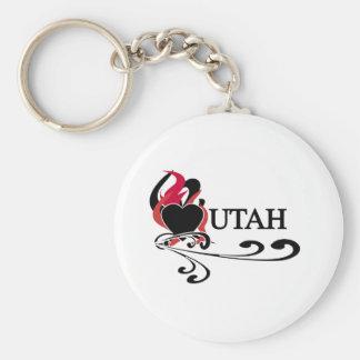 Fire Heart Utah Key Ring