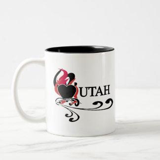 Fire Heart Utah Two-Tone Coffee Mug