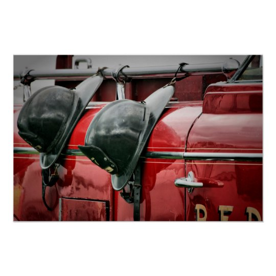 Fire helmets Poster