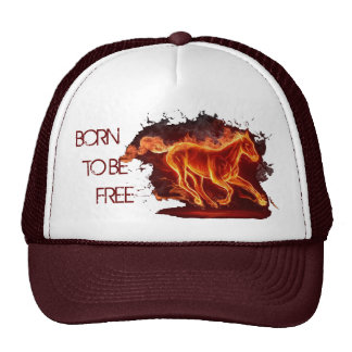 Fire horse trucker hat