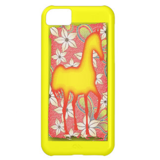 FIRE HORSE IN FLOWERS iPhone 5C COVER