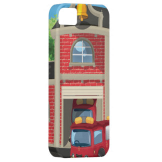 Fire House and Fire Truck iPhone 5 Case