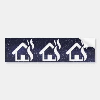 Fire Houses Minimal Bumper Sticker
