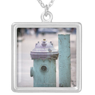 Fire Hydrant Silver Plated Necklace