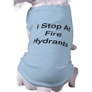 Fire Hydrant Stopper Sleeveless Dog Shirt