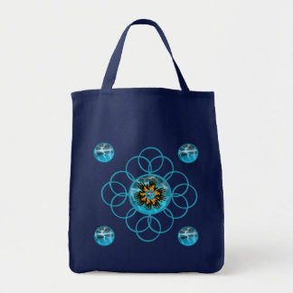Fire & Ice Blazing Hand Star Burst Scroll Bag