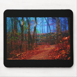 Fire & Ice Forest Oil Painting Gifts Apparel Mouse Pad