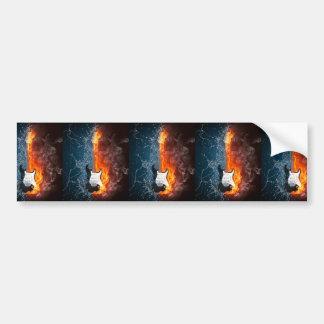 FIRE & ICE GUITAR BUMPER STICKER
