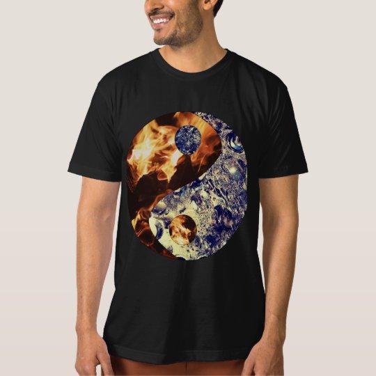 Fire & Ice Yin Yang Men's T Shirt