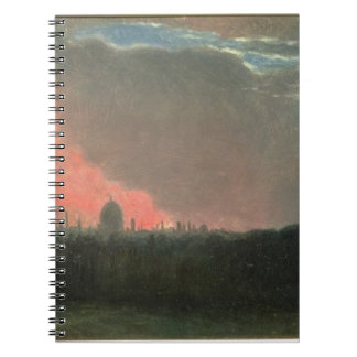 Fire in London seen from Hampstead (oil on paper l Notebook
