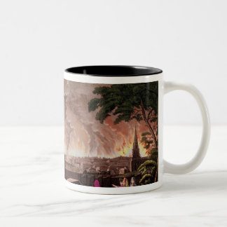Fire in Moscow, September 1812. engraved by Two-Tone Coffee Mug