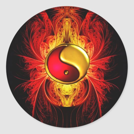 Fire in the Balance Classic Round Sticker