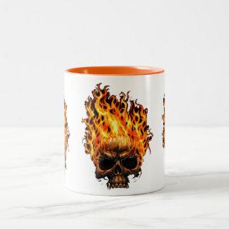fire in the dark Two-Tone mug