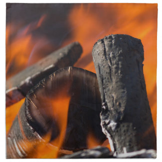 fire in the forest napkin