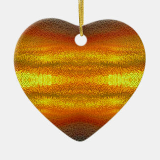 Fire In The Sky Ceramic Heart Decoration