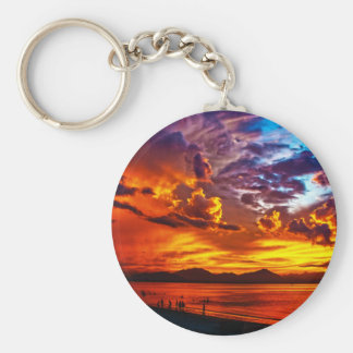 Fire in the Sky Key Ring