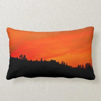 Fire in the sky lumbar cushion