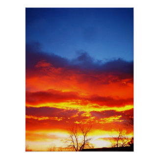 Fire in the sky print