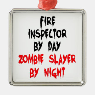 Fire Inspector Zombie Slayer Christmas Ornament