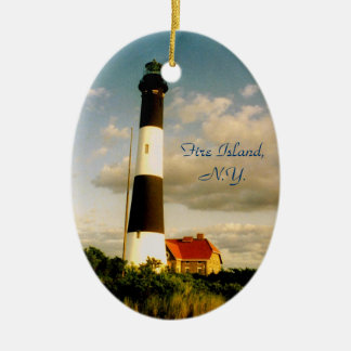 'Fire Island Lighthouse at Sunset' Ornament