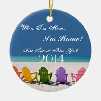 FIRE ISLAND, NEW YORK BEACH LOVER GIFT ORNAMENT