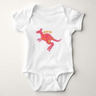 Fire Kangaroo Baby Bodysuit