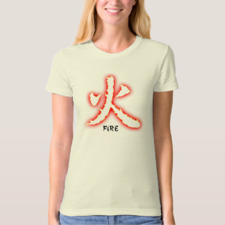 Fire Kanji Ladie's Fitted Organic T-Shirt