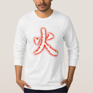 Fire Kanji Men's Fitted Long Sleeve Shirt