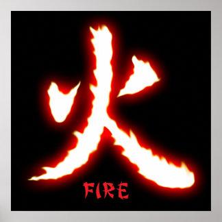 Fire Kanji Poster