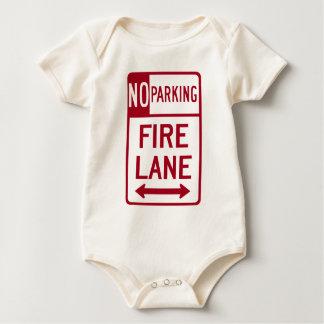 Fire Lane No Parking Sign Baby Bodysuit