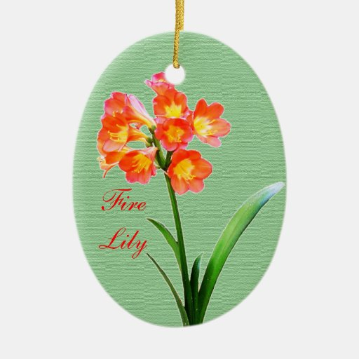 Fire Lily Christmas Tree Ornaments