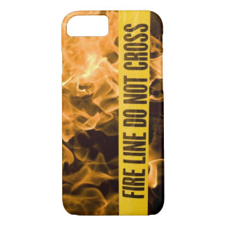 """Fire Line Do Not Cross"" IPhone 8 Case"