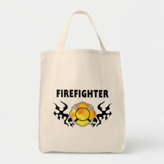Fire Line Tattoo Grocery Tote Bag