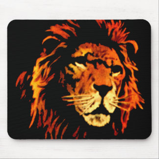 Fire Lion - African Lion King of the Jungle Mousepad