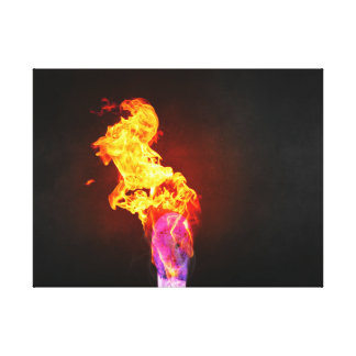 Fire Lit Match Stretched Canvas Print