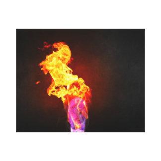 Fire Lit Match Canvas Print