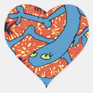 Fire Lizard Heart Stickers