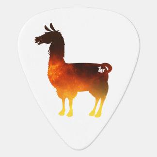 Fire Llama Guitar Pick