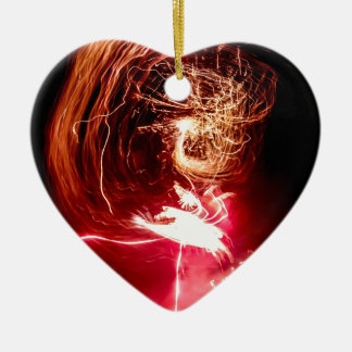 Fire locks ceramic heart decoration