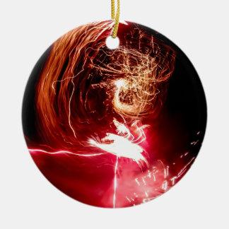 Fire locks christmas ornament