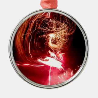 Fire locks Silver-Colored round decoration
