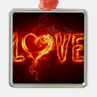 fire love christmas tree ornaments