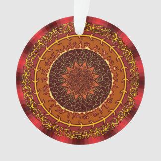 Fire Mandala Acrylic Ornament