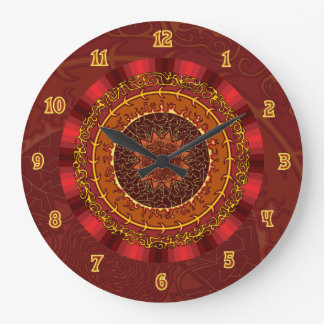 Fire Mandala Clock