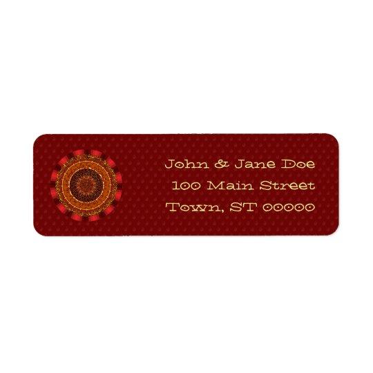Fire Mandala Return Address Label